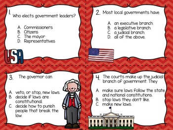 Government Game, Posters, Reading Passage with Questions