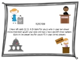Government Task Cards (Local, State, Federal) (Mayor, Governor, and President)