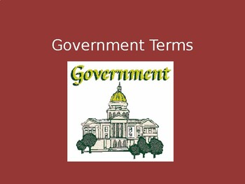 Government Terms PPT