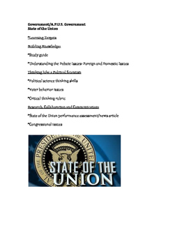 Government - The State of the Union/Public Policy