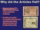 Articles of Confederation Weaknesses PowerPoint (Government / U.S. History)