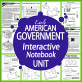 American Government Interactive Notebook Unit~NINE Literacy Based Lessons