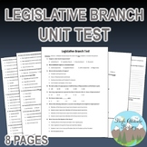 Legislative Branch Test (Government)