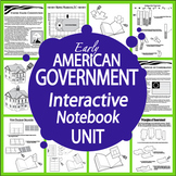 American Government Interactive Notebook (HARD COPY) 9 US Government Lessons