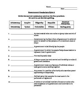 Government Vocab Quiz