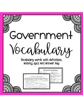 Government Vocabulary Assessment