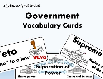 Government Vocabulary Cards