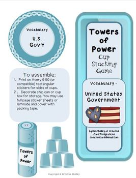 Government Vocabulary Game - Cup Stacking