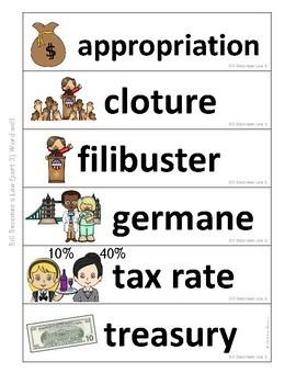 Government Vocabulary Mini-Bundle Bill Becomes a Law 3