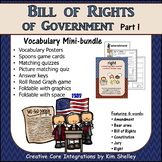 Government Vocabulary Mini-Bundle Bill of Rights 1