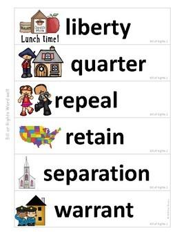 Government Vocabulary Mini-Bundle Bill of Rights 2
