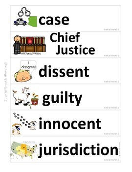 Government Vocabulary Mini-Set Judicial 2