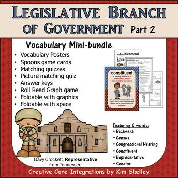 Government Vocabulary Mini-Bundle Legislative 2