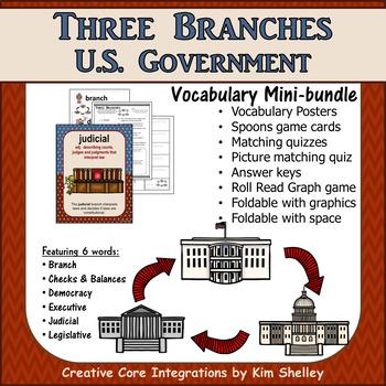 Government Vocabulary Mini-Bundle Three Branches