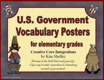 Government Vocabulary Posters for Elementary Grades