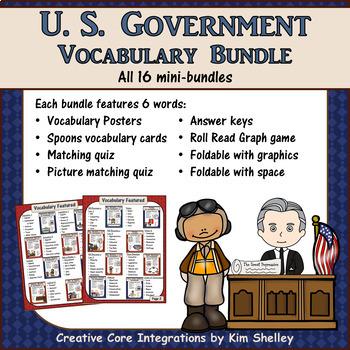 Government Vocabulary Super BUNDLE