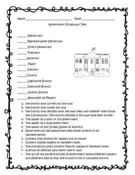 Government Vocabulary Test