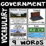 Government Vocabulary Word Posters