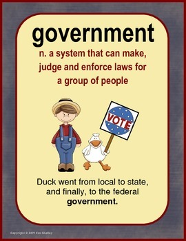 Government Vocabulary for Elementary BUNDLE
