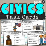 Government and Civics 3rd Grade Task Cards SS3CG1 and SS3CG2