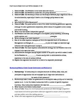 Government and Politics Crash Course Episodes 11-16 questions