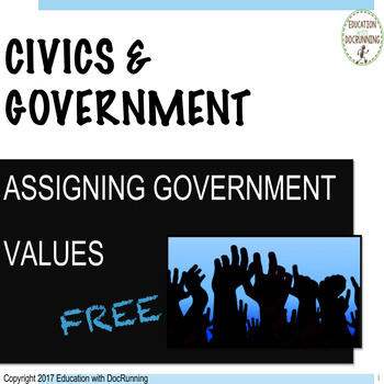 Government and civics community values bell-ringer activity