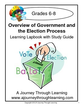 Government and the Election Process (grades 6-8) Lapbook with Study Guide