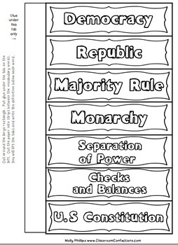 American Government Interactive Notebook: 4th Grade Social Studies