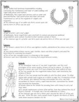 Government in the Roman Republic - Non-Fiction, Notes, Projects & Rubrics