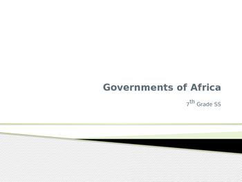 Government of Africa 7th Grade Georgia SS