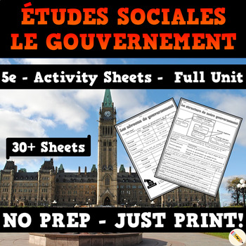 Government of Canada - French Worksheets - Grade 5 Social Studies