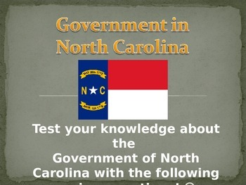 Government of North Carolina Review Game