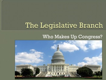Government/Civics - Who are the Members of Congress?