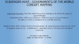 Governments Around the World - Scavenger Hunt