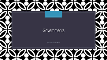 Governments, Chapter 1