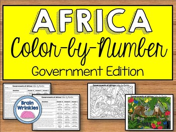 Governments of Africa: Color by Number (SS7CG1, SS7CG2)
