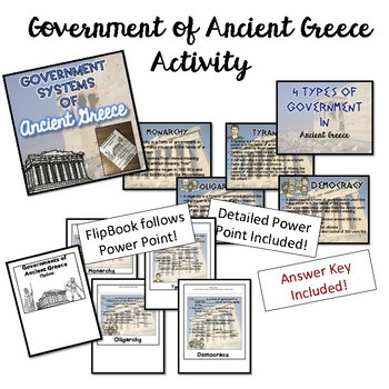 Governments of Ancient Greece AND Athens VS Sparta Bundle