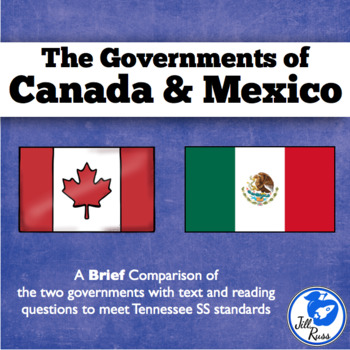 Governments of Canada and Mexico Informational Text, Tennessee Standards