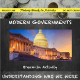 Governments of the Modern World Digital Break Out Activity