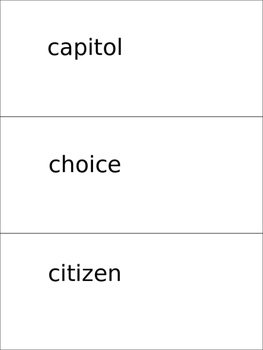 Governments of the Western Hemisphere Vocabulary Cards
