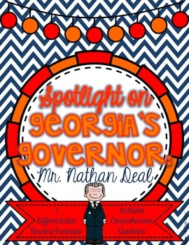 Governor Nathan Deal {Differentiated Reading Passages & Qu