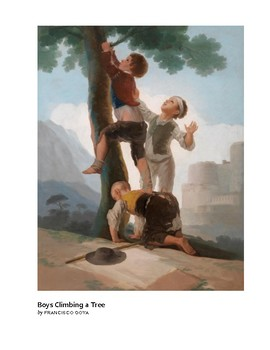 Goya Boys Climbing a Tree Romantic Era