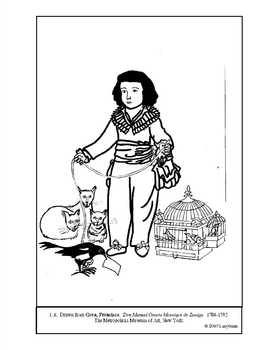 Goya.  Don Manuel Osorio.... Coloring page and lesson plan ideas