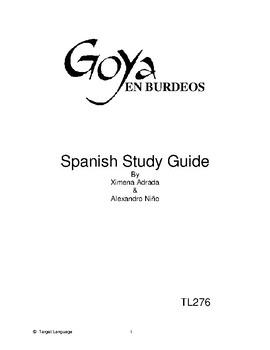 Goya in Bordeaux-Spanish Study Guide