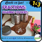 Fraction Centers - Cookie Activity, Craftivity, and Assessment CCS