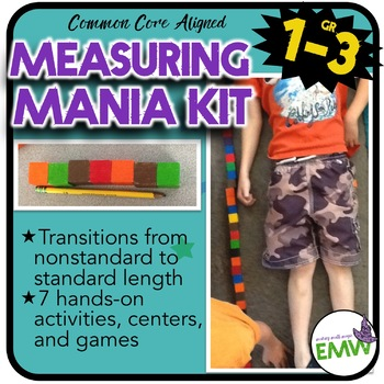 Measurement Length Activities -  From non-standard to standard measuring