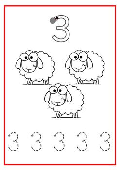 Gr.1 Learn number symbols Work Sheet 1