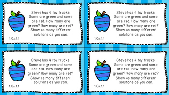Gr 1 Math Journal Prompts/Topics Florida Standards COLOR EVERY STANDARD MAFS FS