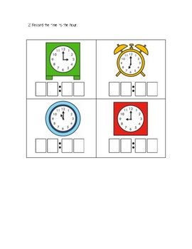 Gr. 1 Unit 3 Show What You Know Mathematics Assessment/Test Time and Temperature