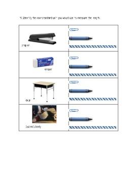 Gr. 1 Unit 8 Math Show What You Know Assessment/Test Linear Measurement